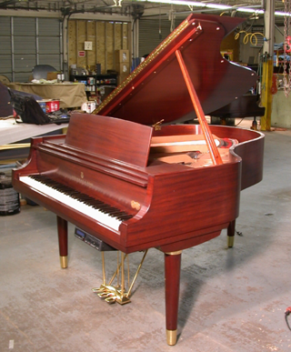 piano restoration at Amro Music, Memphis