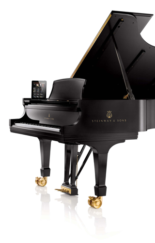 player piano system on a grand piano