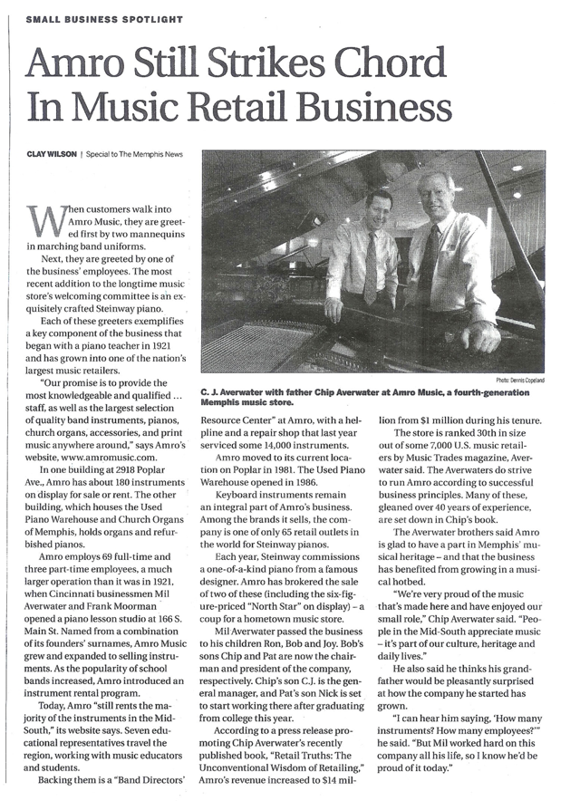 Amro Still Strikes Chord In Music Retail Business The Commercial