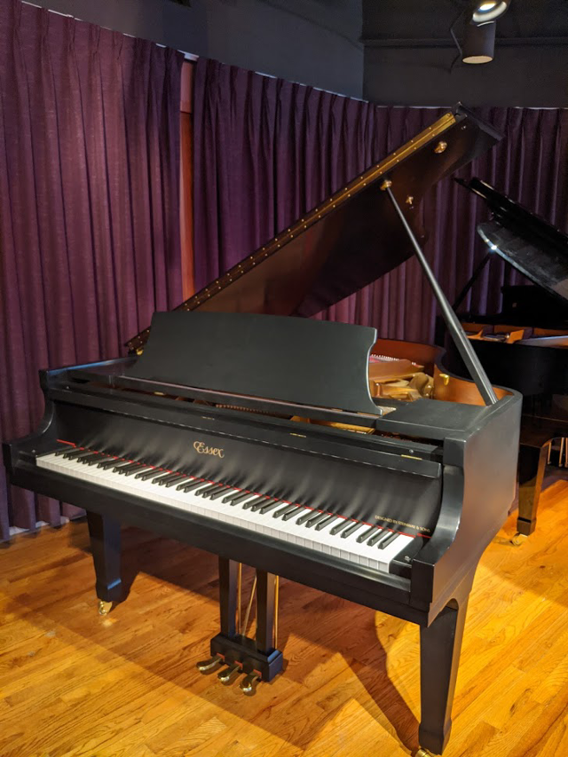 "Essex 5' 8"" Ebony Satin Grand Piano - Demo Unit"