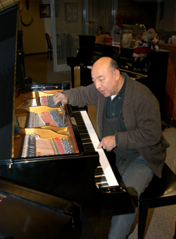 piano tuner at Amro Music in Memphis