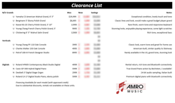 Download the Clearance List