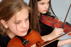 Students playing violin