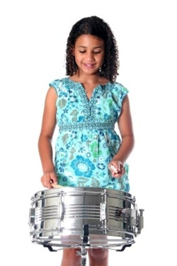 student playing drum and percussion