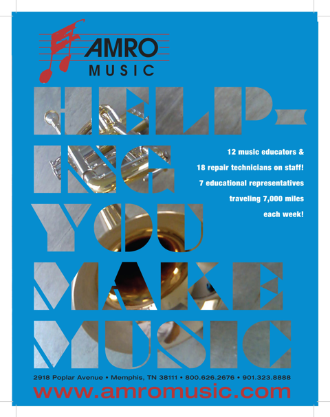 Amro Music ad:  Helping You Make Music