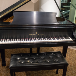 Steinway & Sons Ebony Satin Model M Grand