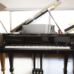 "Pramberger PS-157 5' 2"" Ebony Polish Grand Piano - SOLD"