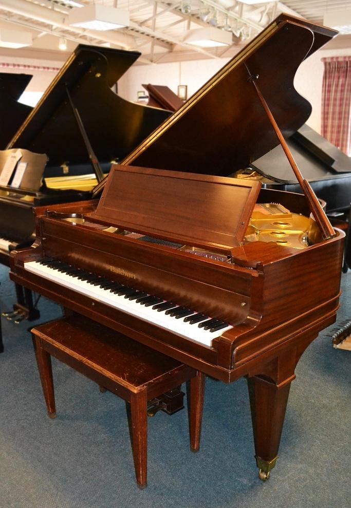 Amro Music: Baldwin Model R 1926 Mahogany Satin Grand Piano