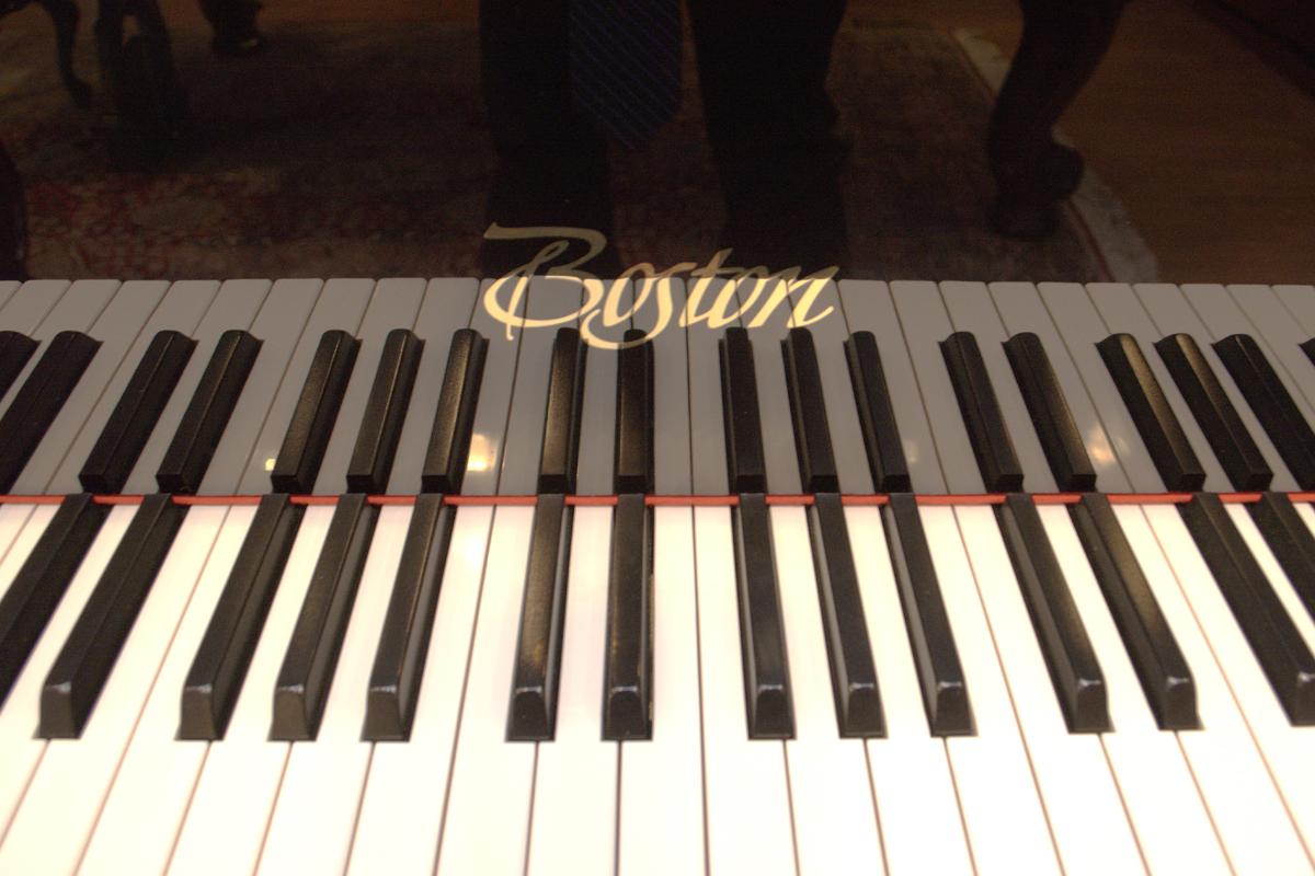 Boston Grand Piano (up close shot of piano keys)