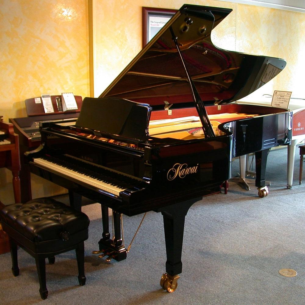 amro music kawai 9 39 0 ebony polish concert grand piano sold. Black Bedroom Furniture Sets. Home Design Ideas
