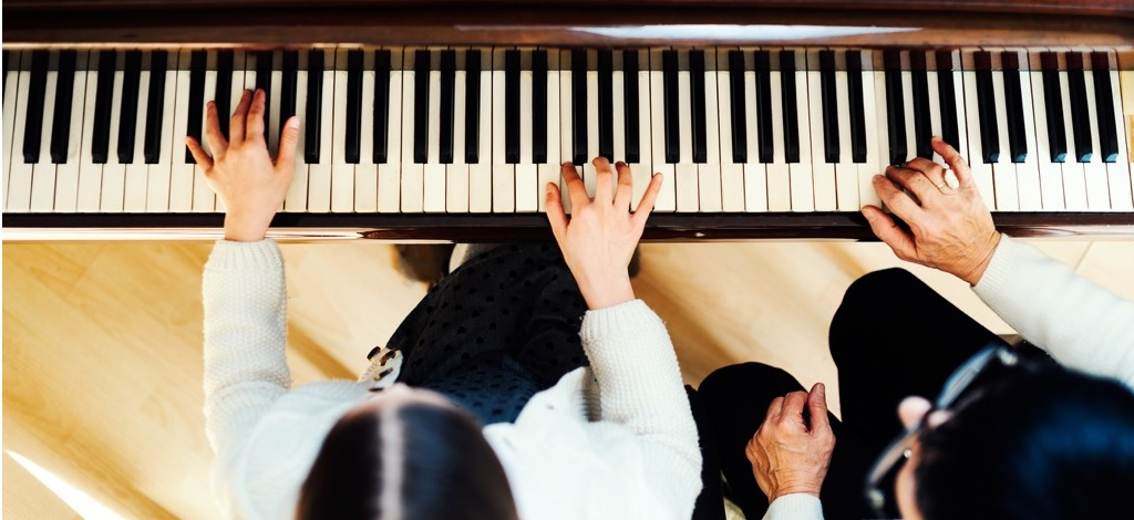 Piano-Overhead Shot