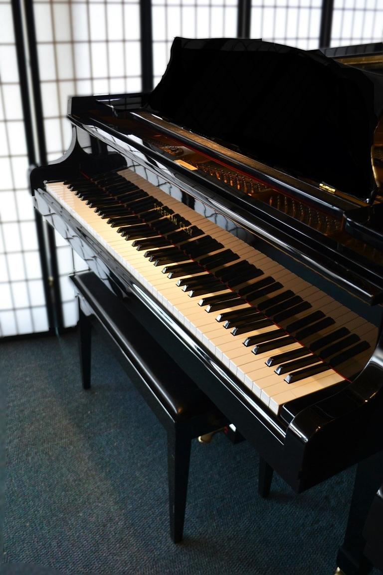 amro music  sherman clay 6 u0026 39  ebony polish grand piano
