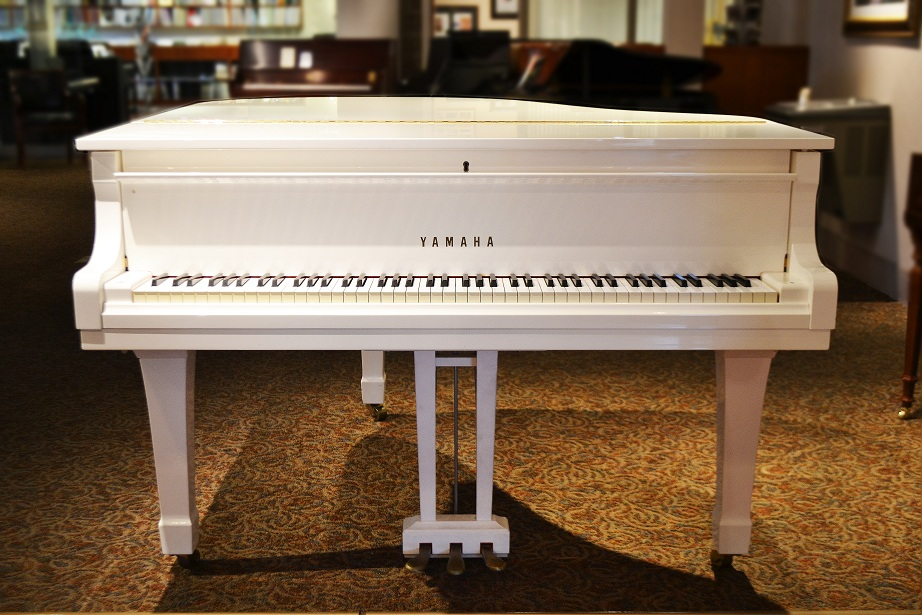 Amro music yamaha g1 white baby grand piano sold for Price of a yamaha baby grand piano