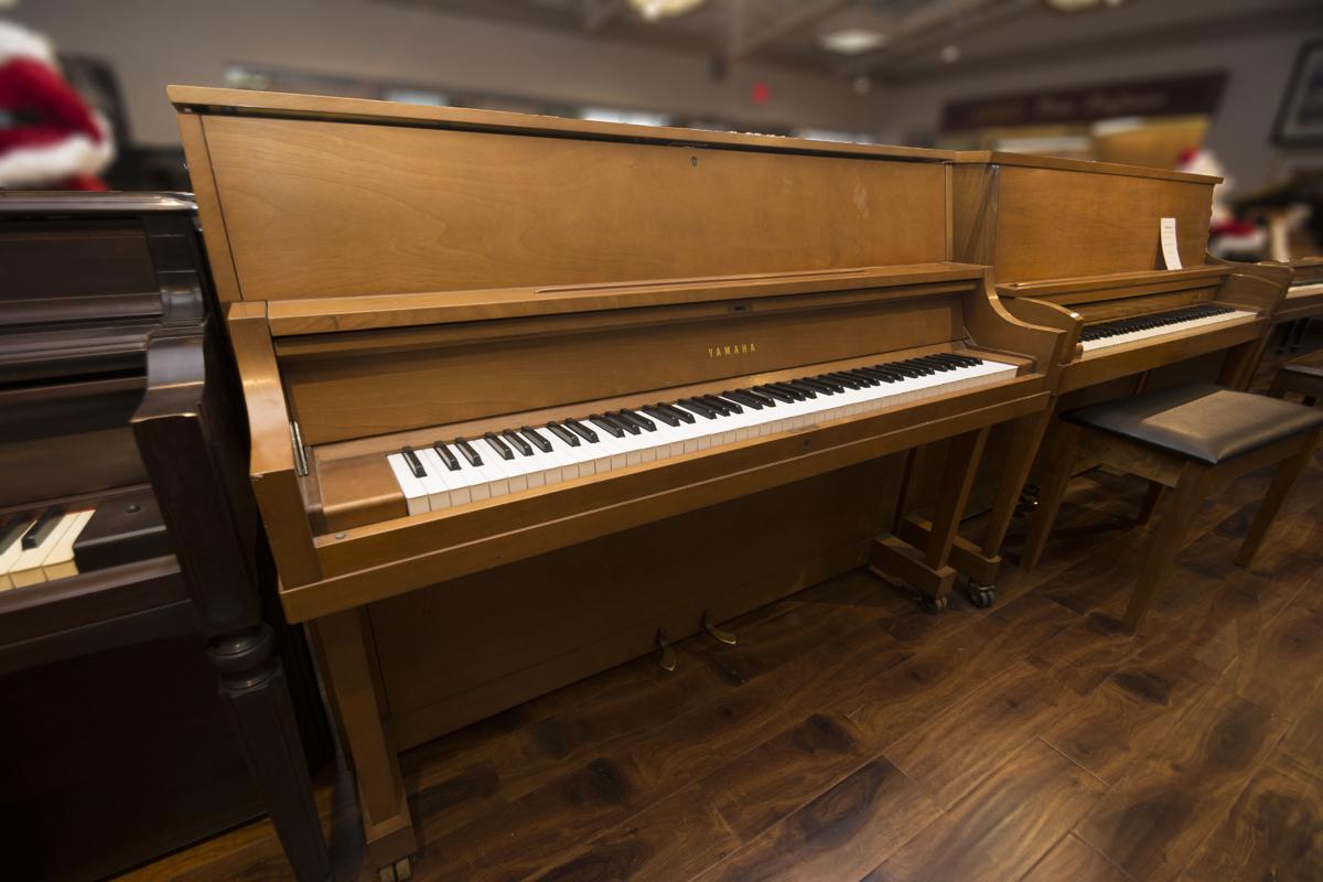 Amro music yamaha p22 walnut satin studio piano sold for Yamaha p22 upright piano