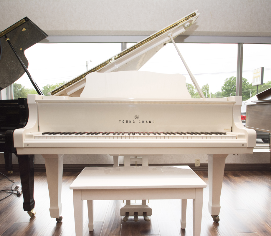 "Amro Music: Young Chang 5' 2"" White Grand Piano - SOLD"
