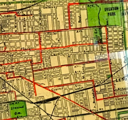 1913 Memphis Trolley Map