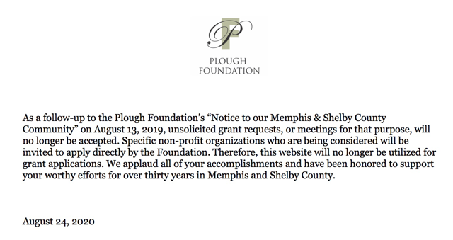 Plough Foundation Update to 2019 Letter