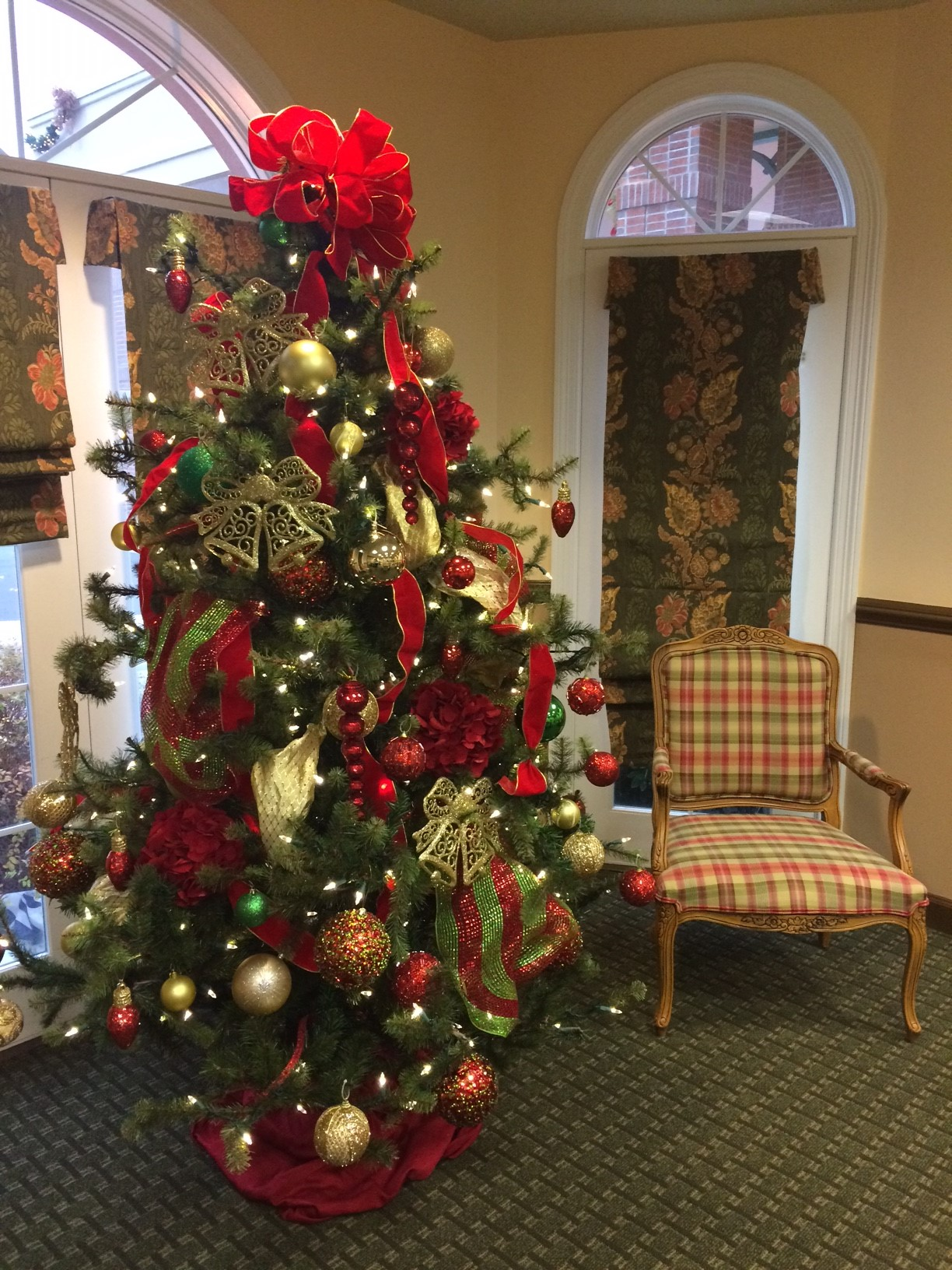 Christmas Decorations at the Village in Germantown Retirement Community