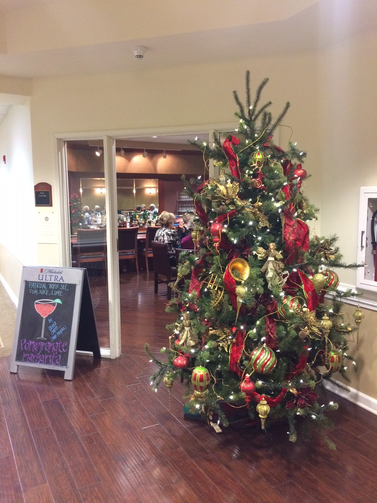 Christmas Decorations at the Village in Germantown Retirement Home