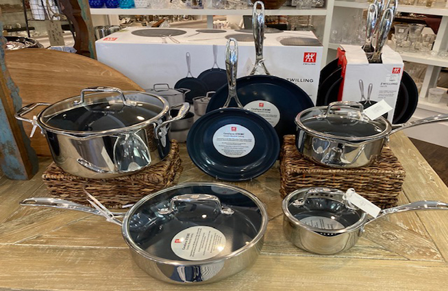 New Zwilling cookware is available now at Babcock's Gifts!