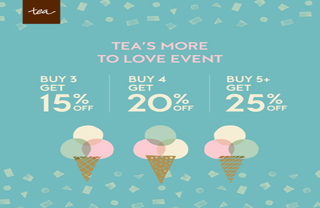 Just in time for Valentine's Day, Cotton Tails and Sachi are having a huge Tea Collection Sale! The more you buy, the more you save!