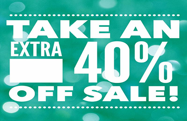 Take an extra 40% off at Cotton Tails and Sachi this week!!