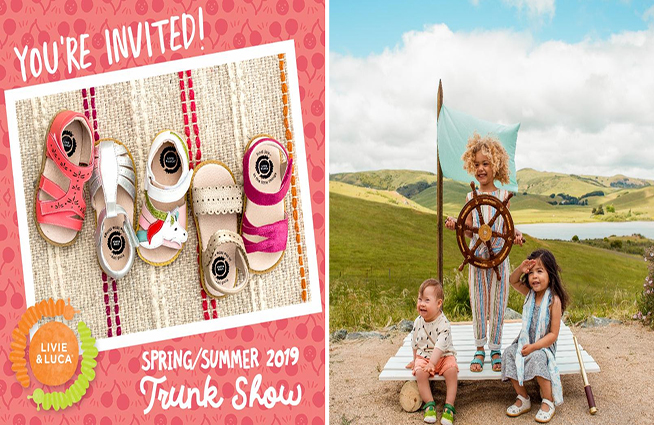 LIvie and LUCA Trunk Show at Cotton Tails this weekend!!