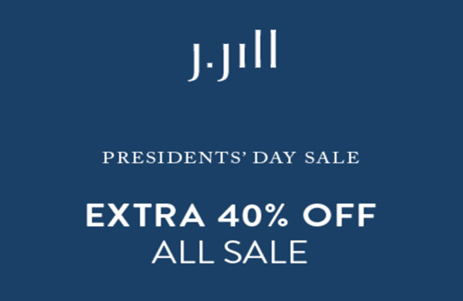 2/10-2/15 Get an EXTRA 40% off ALL SALE styles at J. Jill!!