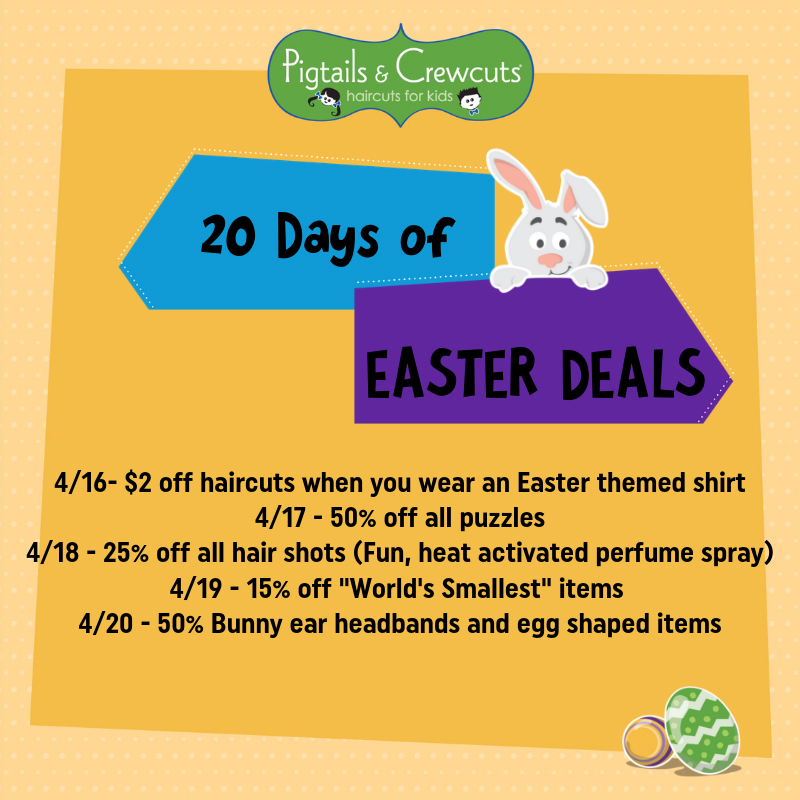 20 Days of Easter Deals!