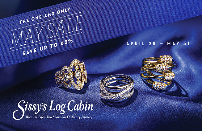 Sissy's Log Cabin's only sale of the year is here!! Up to 65% off storewide!!