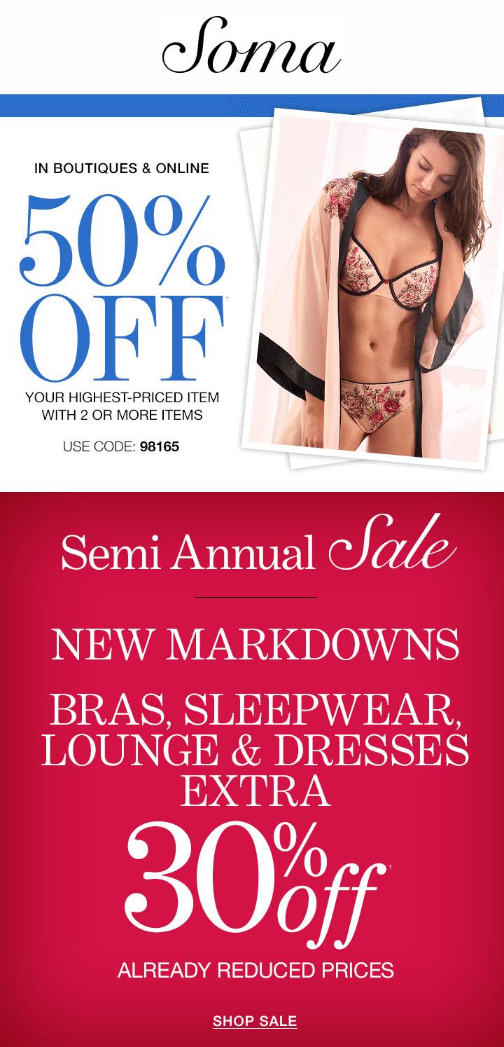 e9753ad25c32 Soma - Semi Annual Sale!
