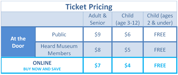 Holidays at the Heard ticket pricing