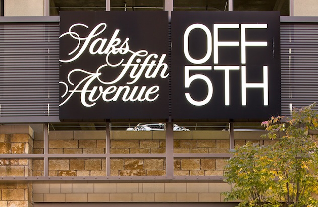 Saks fifth avenue off 5th clothing store