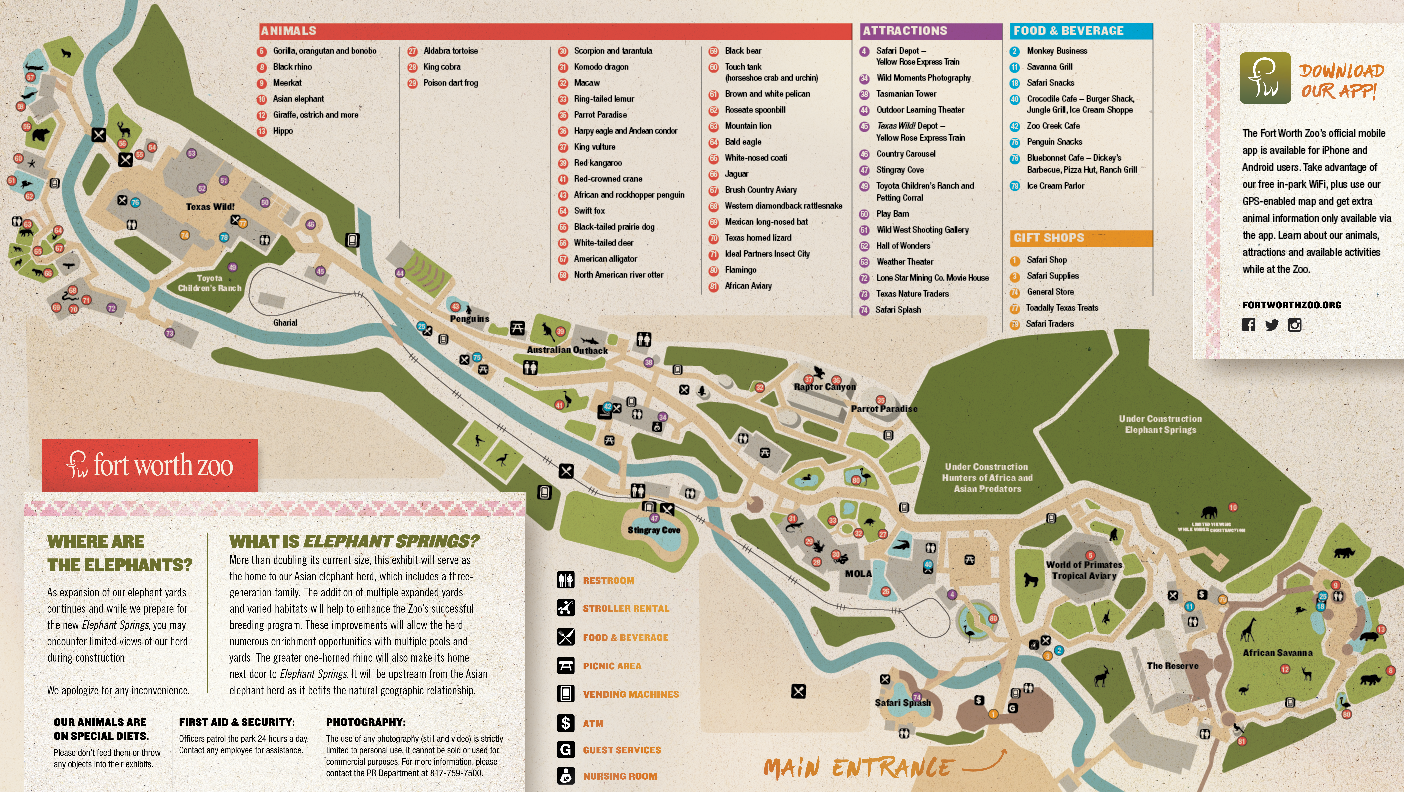 Fort Worth Zoo map
