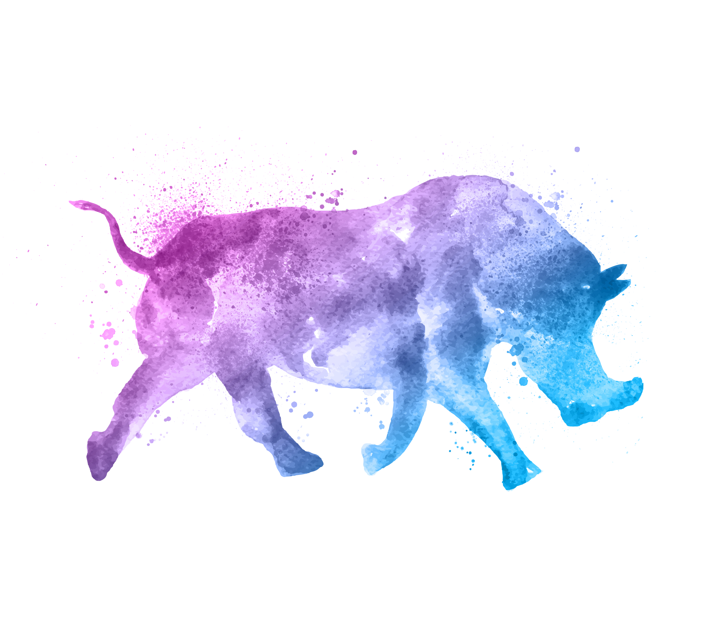 watercolor rhinoceros for Fort Worth Zoo's A Wilder Vision campaign