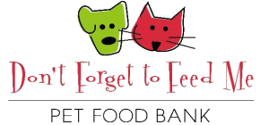 Don't Forget to Feed Me Pet Food Bank Logo