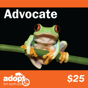 Fort Worth Zoo advocate adoption logo