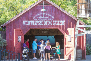 Wild West shooting gallery at Fort Worth Zoo