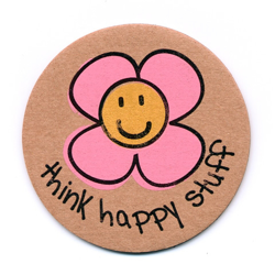 think happy stuff recycled magnet