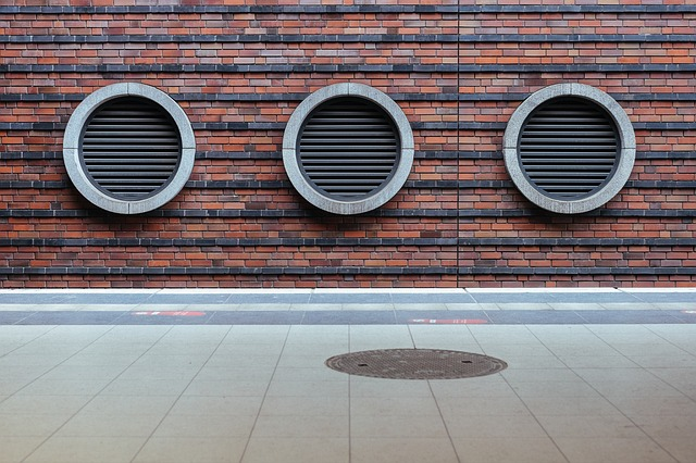 Brick Wall with Vent Slats