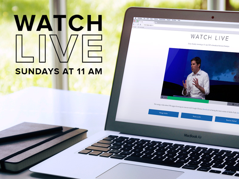 Watch Live at 11 am - Sundays