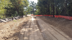 Rough grading for trail tread is underway and should be completed by end of October.