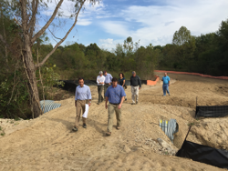 Staff from Hyde Family Foundations tour the Phase 9: Epping Way trail construction site.