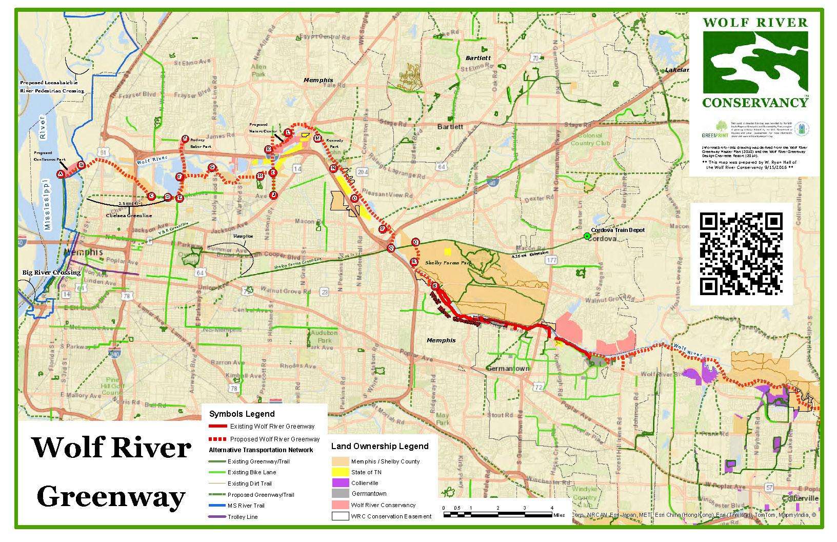 The Wolf River Greenway - Us 36 bike path map