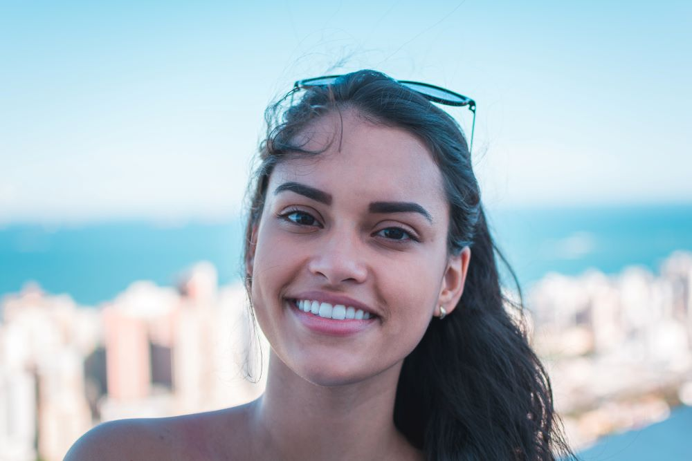 Woman with Whitened Teeth