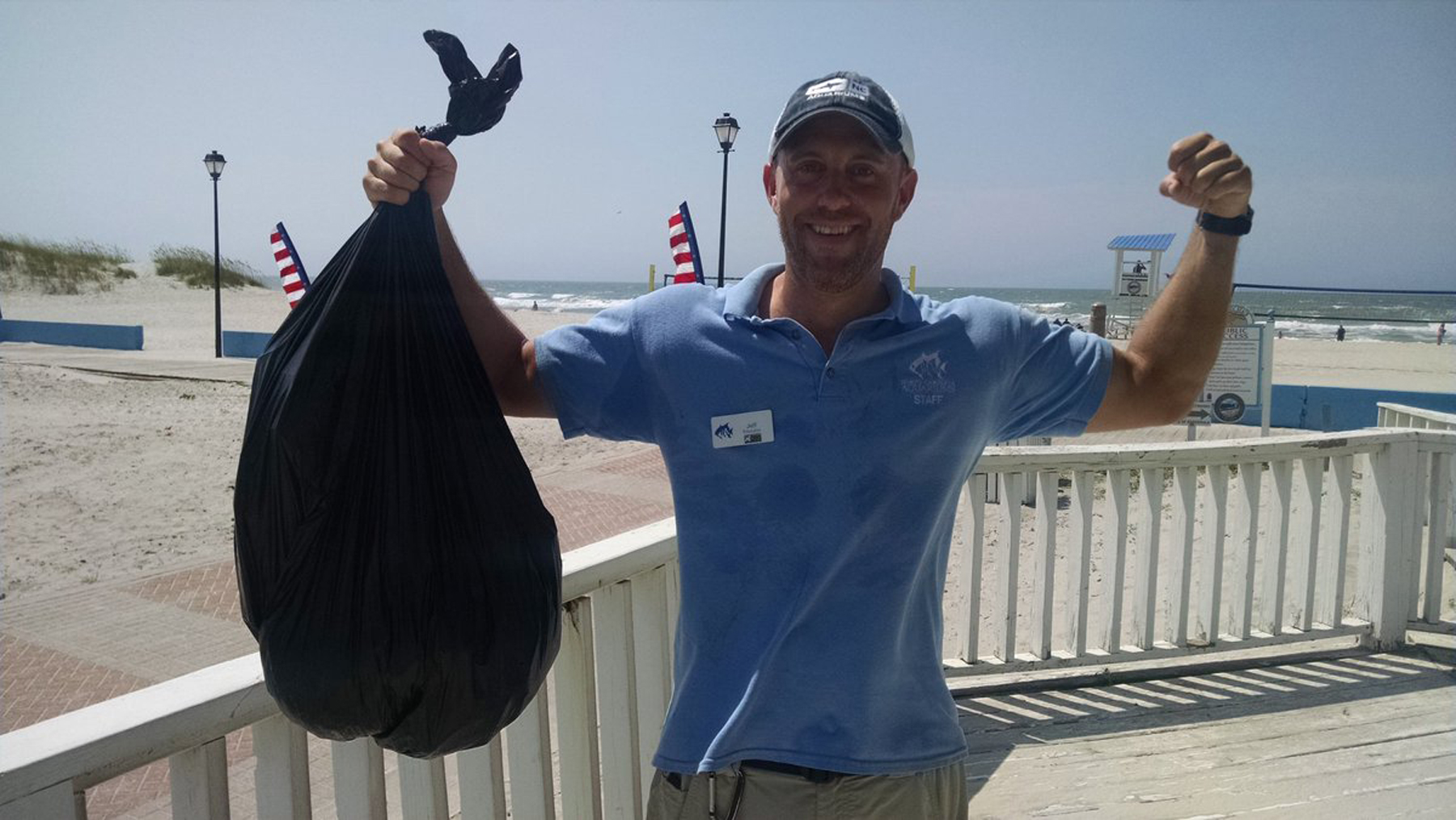 The Aquarium, Fort Macon State Park, and the towns of Atlantic Beach, Pine Knoll Shores, Indian Beach and Emerald Isle join together to pick up trash across Bogue Banks.
