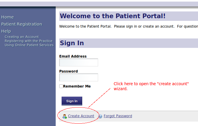 Patient Portal Sign In