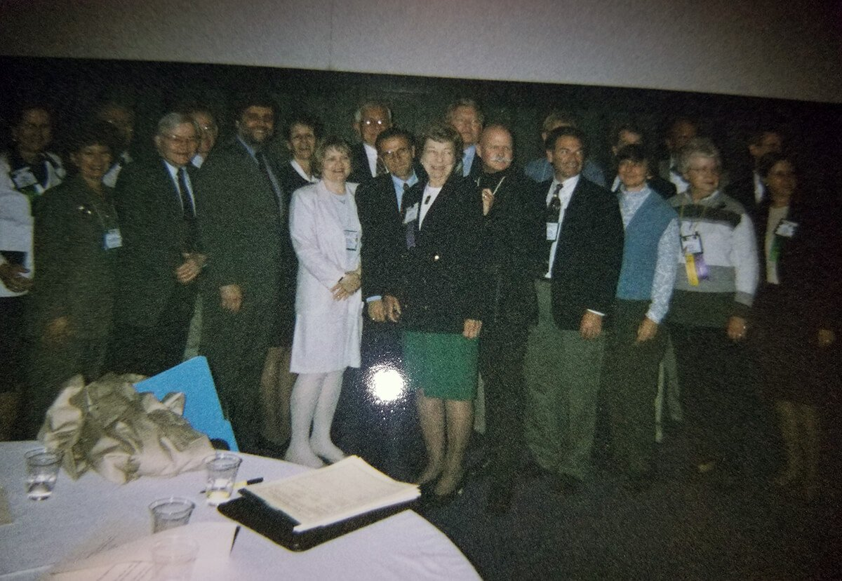 Helen Cleary with colleagues at the AAHE meeting 1999
