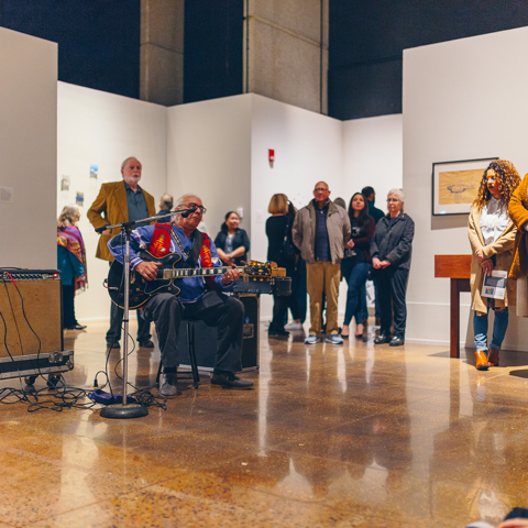 A performance at the member opening.