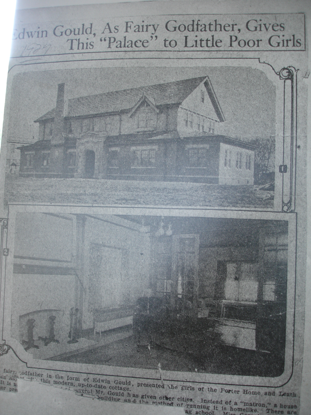 1926 newspaper clipping announcing completion of Gould Cottage